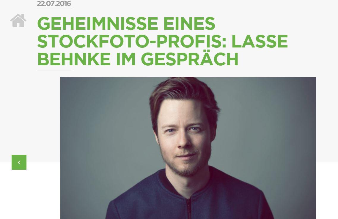 Interview mit Lasse im Fotolia Blog (2016)