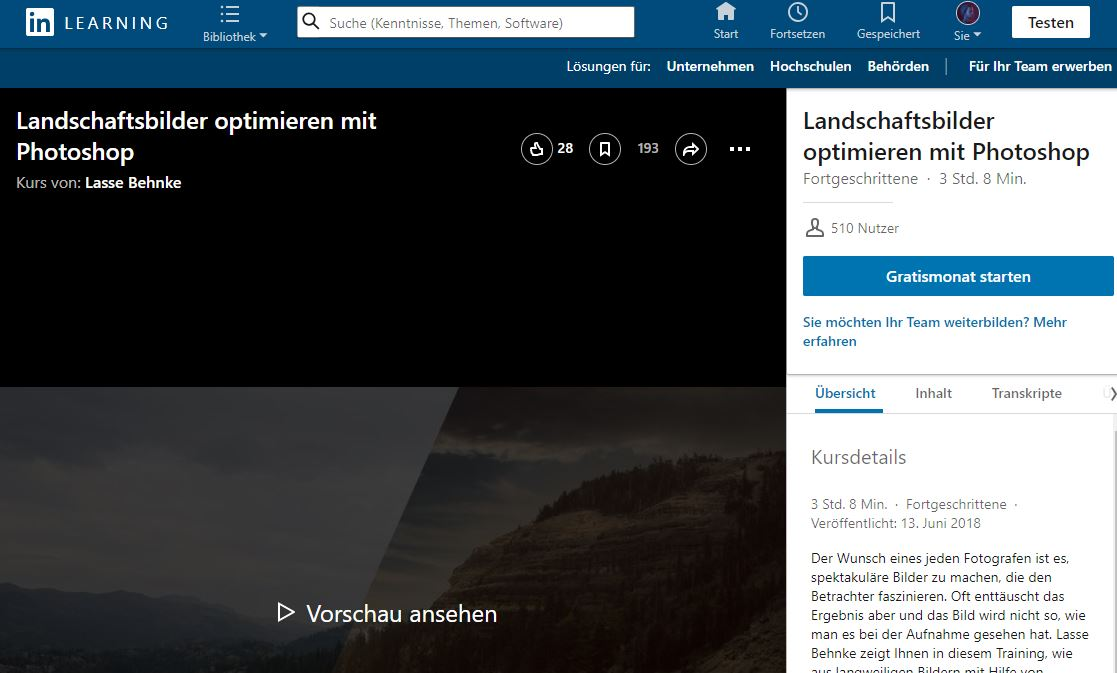 Meine Videotrainings bei LinkedIn Learning